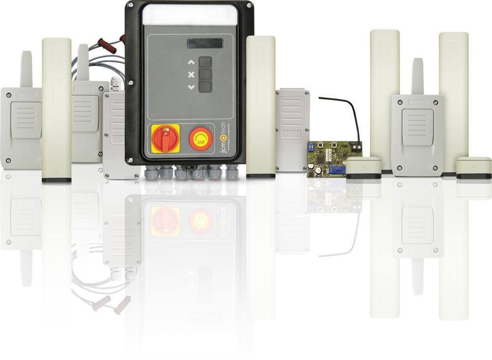 Bezdrátové systémy pro bezpečnostní lišty JCM Technologies